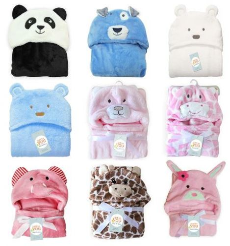 a0ea3deb1 Hudson Baby Animal Face Hooded Towel for Girls Pretty Elephant
