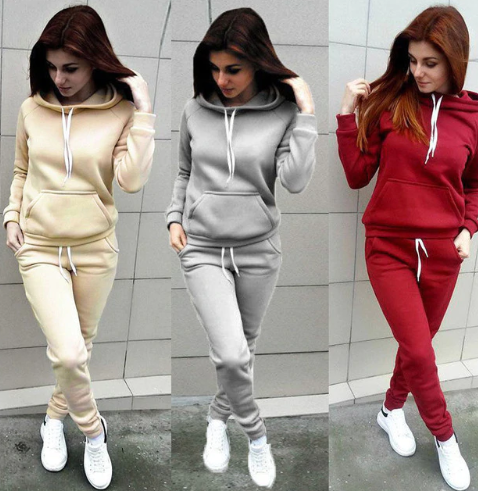 Brand New 2 Piece Set Women Hoodies Pant Clothing …