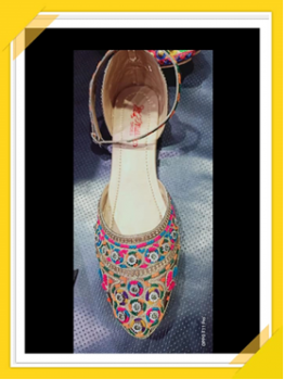 flat embroidery pump…