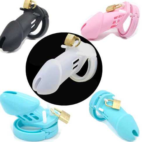 Soft Silicone Male Chastity Ca…