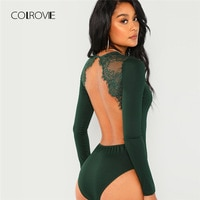 COLROVIE Green Solid Backless …