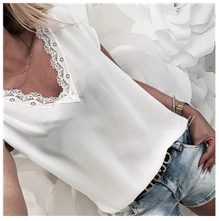 2019 Women Short Sleeve Blouse…