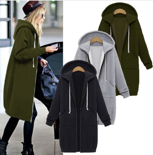 Women Jacket Long Coat Autumn …